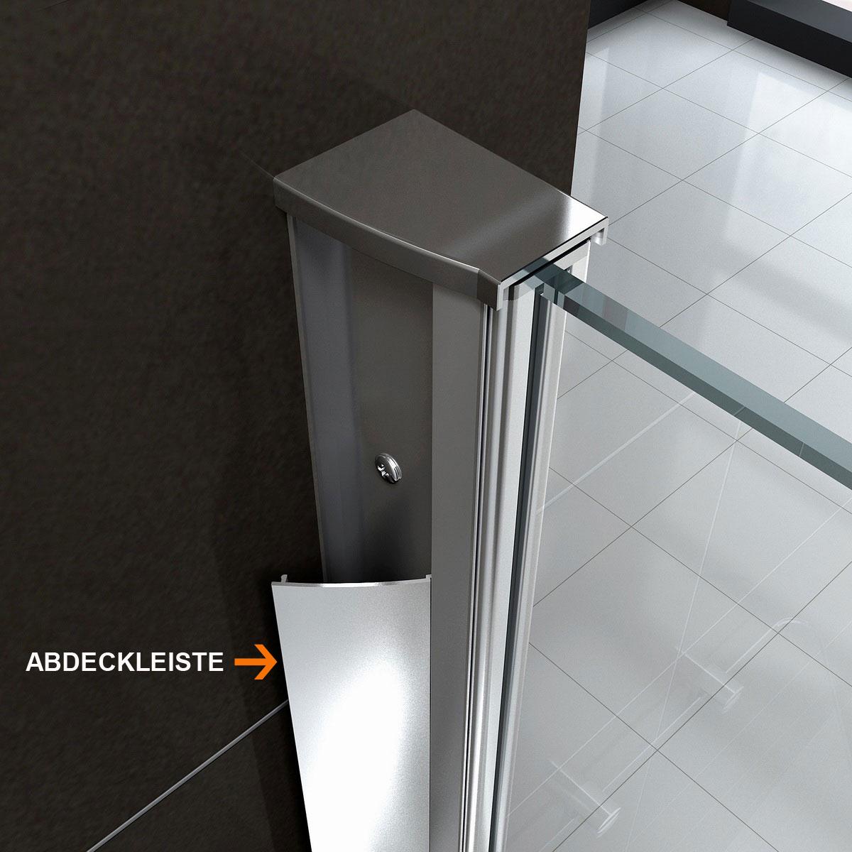 duscht r glas dusche duschwand dusche viele ausf hrungen nano von 75 100 cm ebay. Black Bedroom Furniture Sets. Home Design Ideas
