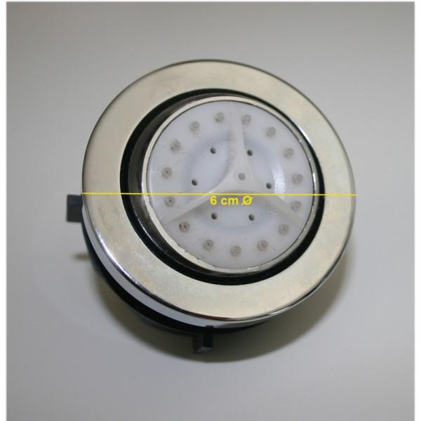Massagedüse für Duschkabine Einbaudurchmesser 50mm