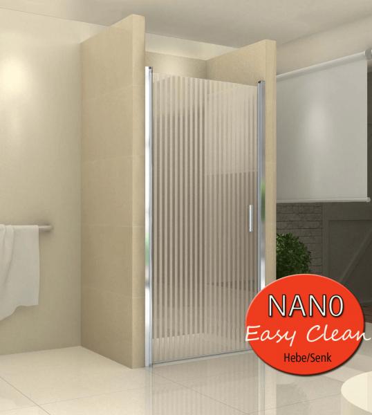 Nischentuer Vertikalstreifen mit Nanobeschichtung 80x190 cm