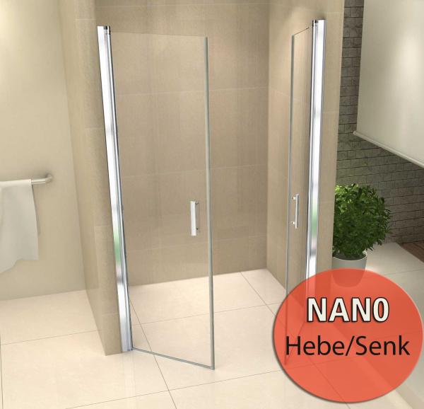 Duschabtrennung  mit Nanoversiegelung Klarglas 110x200 cm