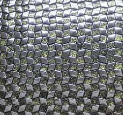 Edelstahl Glas Mosaik Fliese 29x29 mm poliert